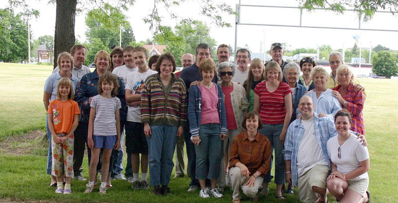 Some Bingen cousins and their spouses at a reunion in 2005