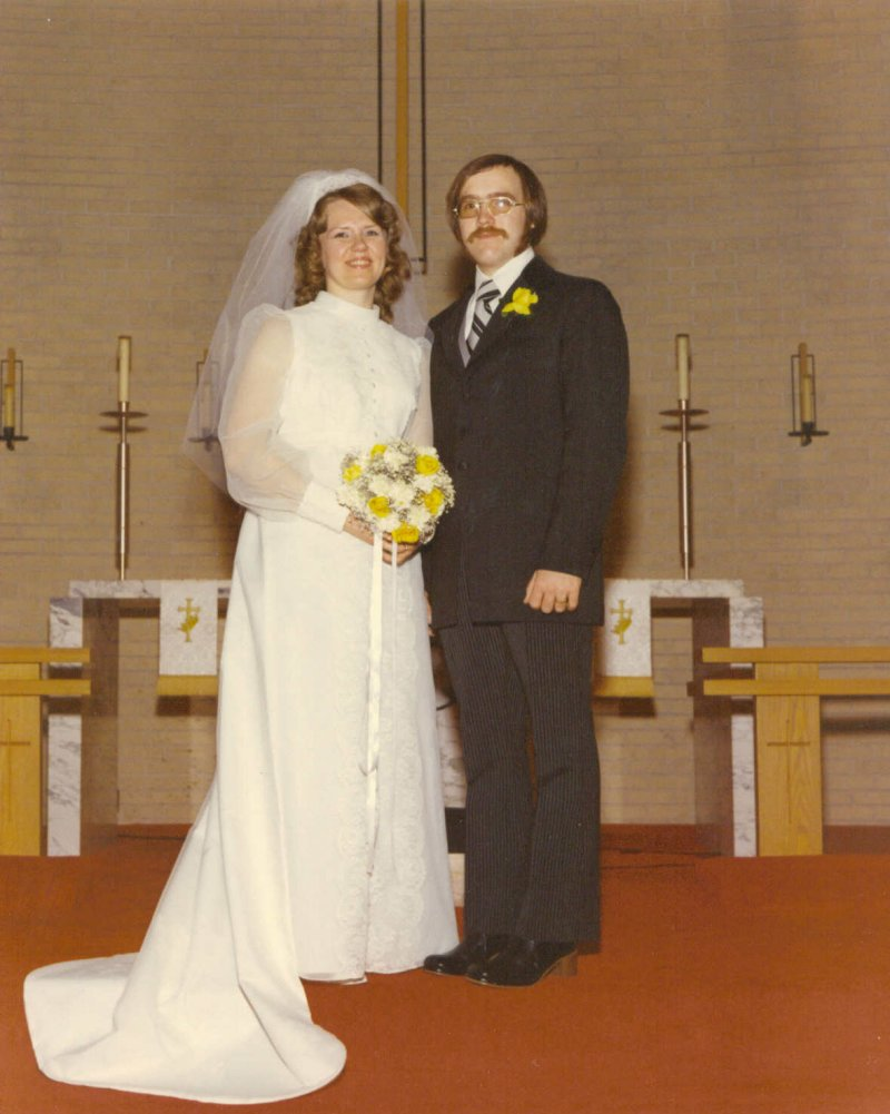 Bob and Roseann Bingen at their wedding.