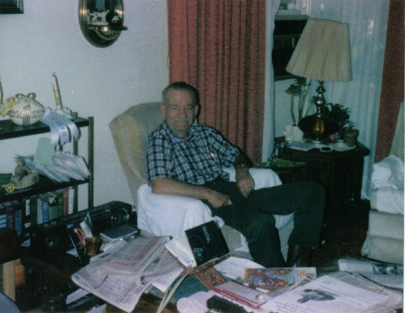 Irving Bingen in his home in Sidney, MT, 1998.