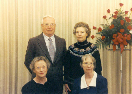 Kenneth, Pearl, Delores and Dorothy Bingen at Francis Bingen's funeral